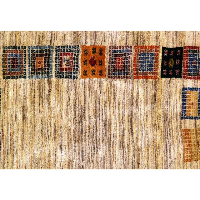 """Pasargad NY Persian Gabbeh Rug - 3′4″ × 4′7"""" For Sale - Image 4 of 5"""