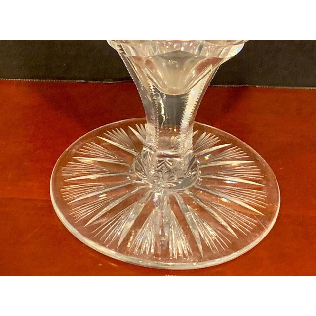 American Brilliant Cut Glass Heart Shaped Vase, Rare Form For Sale - Image 9 of 11