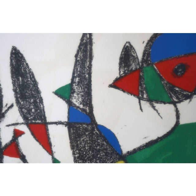 Paper Lithograph by Joan Miro, Circa 1975, Lithographs Ii, Plate 10, Mourlot Paris For Sale - Image 7 of 10