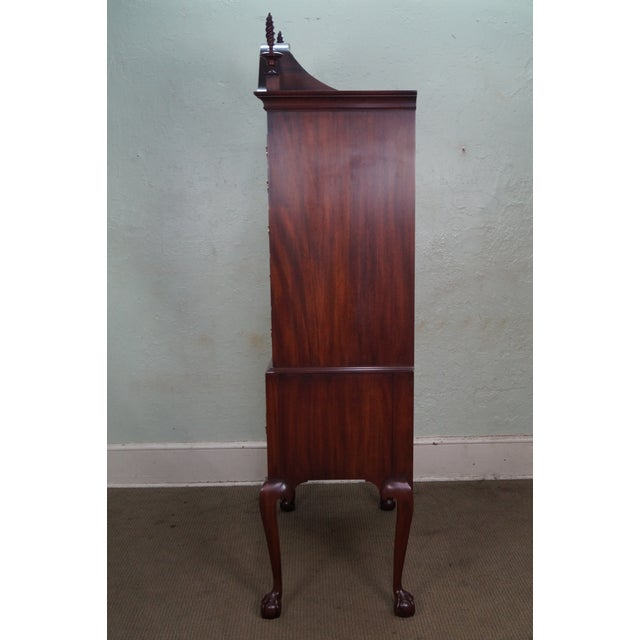 """Chippendale Henkel Harris """"Spnea"""" Ball & Claw Foot Chippendale Mahogany Highboy For Sale - Image 3 of 10"""