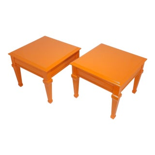 Orange Lane Wood Square End Tables or Nightstands - a Pair For Sale