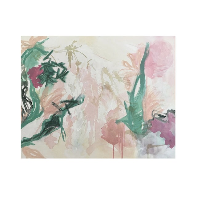 "2010s Lindsey Weicht ""Flora No. 7"" Abstract Painting For Sale - Image 5 of 5"