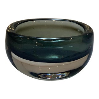 1950s Swedish Sommerso Smoked Glass Vase by Nils Landberg for Orrefors Dusk Series For Sale