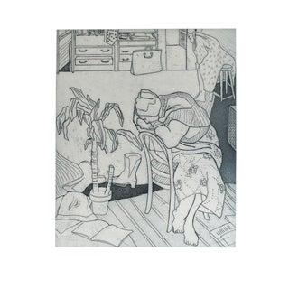 """Studio Study"" Black & White Lithograph by Jacklyn Friedman"
