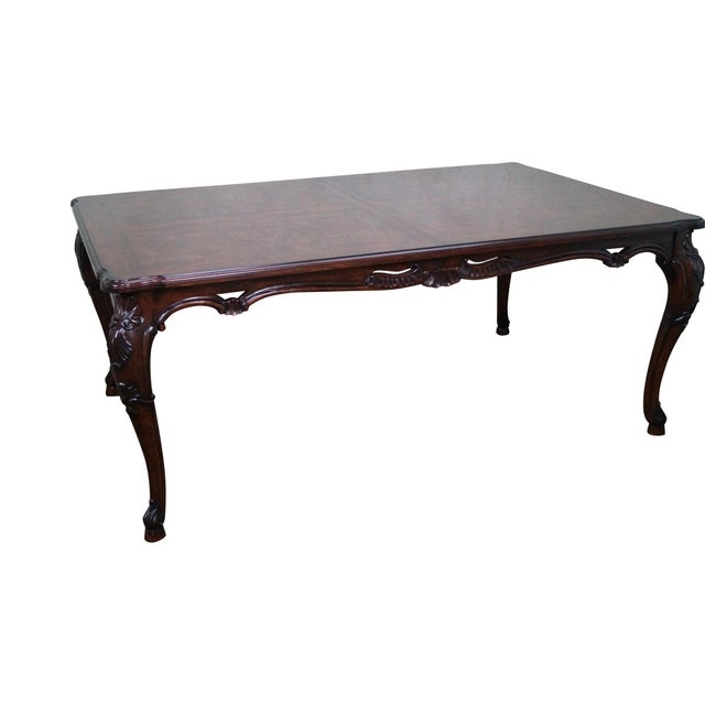 Henredon Arabesque Burl Wood Italian Style Dining Table