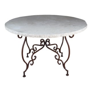 Tuscan Style Scrolled Iron Center Table For Sale