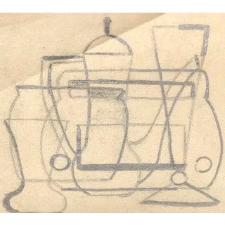 Mid-Century Modern Still Life Drawing by Phyllis Myrick For Sale