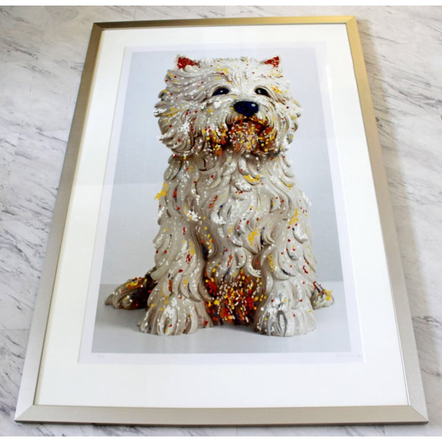 For your consideration is a framed lithograph, signed, numbered 59/75 and dated 1999. Hand embellished, in excellent...