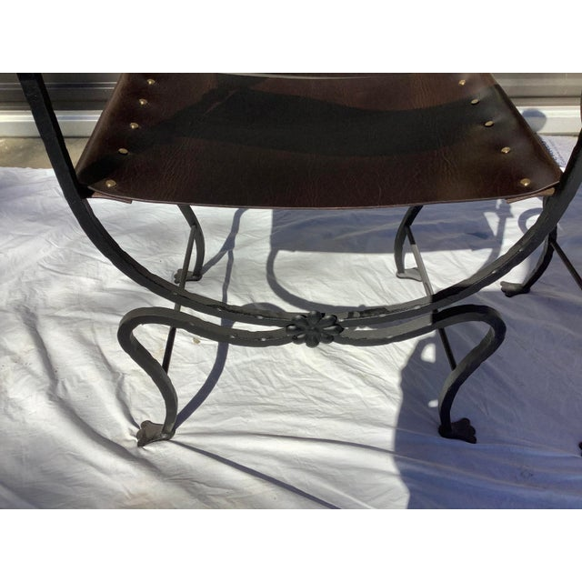 1960s Italian Savaronola Style Chairs, a Pair For Sale - Image 9 of 12