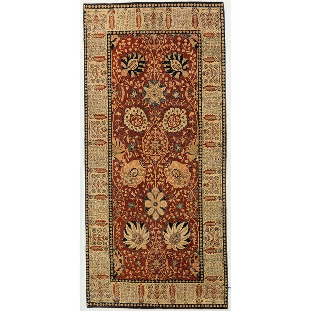 2010s Contemporary Turkish Tabriz Design Rug - 6′5″ × 13′10″ For Sale - Image 5 of 5