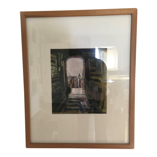 """""""Edinburgh"""" Contemporary Architectural Oil Painting, Framed For Sale"""