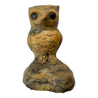 Vintage Early 20th Century Brutalist Owl For Sale