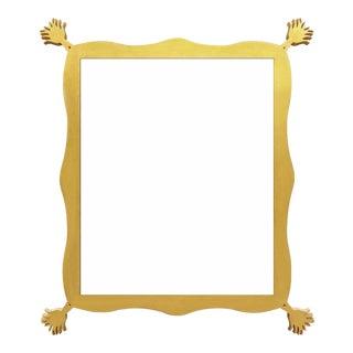 Fleur Home x Chairish Iko Iko Rectangle Mirror in Gold Leaf, 39x51 For Sale