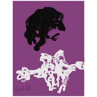 Arthur Pina De Alba - Prince - iPad Drawing on Archival Art Paper, Edition 3/7, Signed, 2015 For Sale