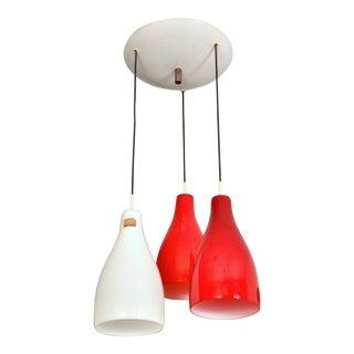 Three-Shade Venini Pendant Lamp, Italy 1960s For Sale