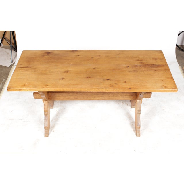 French Country-Style Trestle Table - Image 3 of 8