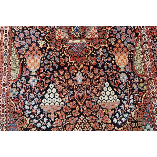 Islamic 1880s, Handmade Antique Persian Dabir Kashan Rug 4.1' X 6.2' For Sale - Image 3 of 12