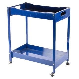 Blue Wooden Bar Cart