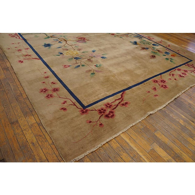 Art Deco 1920s Antique Chinese Art Deco Rug-9′ × 11′9″ For Sale - Image 3 of 6