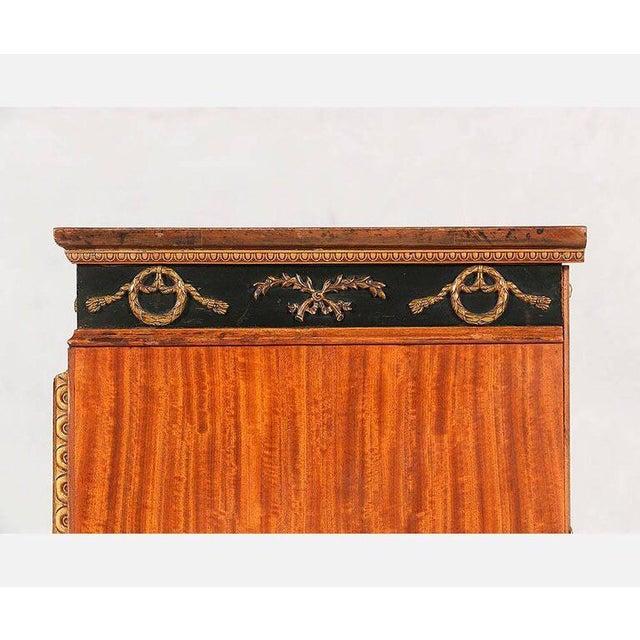 Brass French Regency Mahogany Veneer Commode For Sale - Image 7 of 9