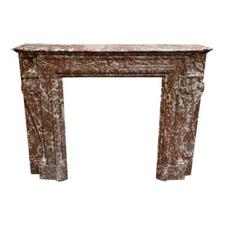 Antique French Marble Mantel For Sale