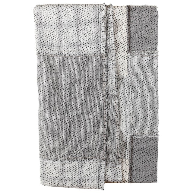 Chindi Indian Kantha Stitch Quilted Bedcover For Sale - Image 10 of 10
