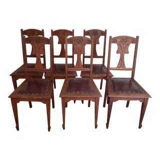 British Arts & Crafts Chairs (Set of 6) For Sale