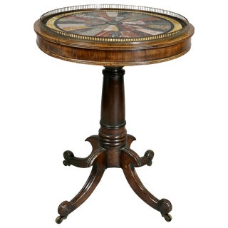 Regency Rosewood and Specimen Marble Table For Sale