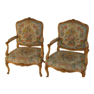 18th Century Antique Louis XV Chairs-a Pair For Sale