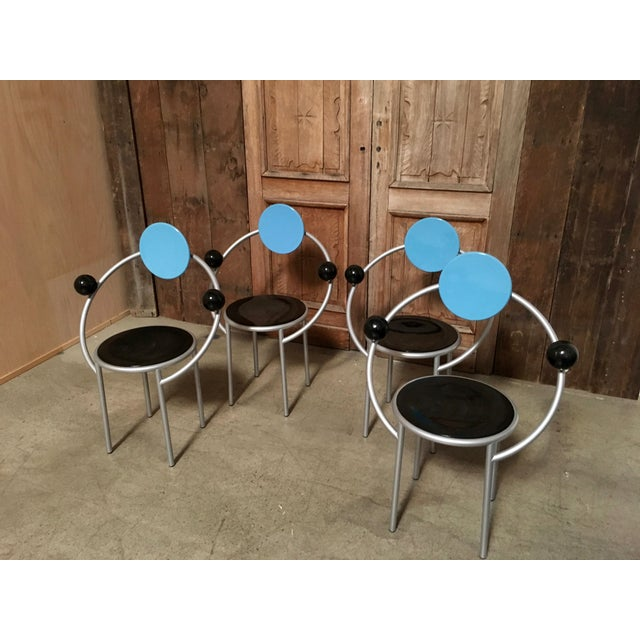 """Memphis Group """"First Chair"""" Michele De Lucchi for Memphis Chair For Sale - Image 4 of 7"""