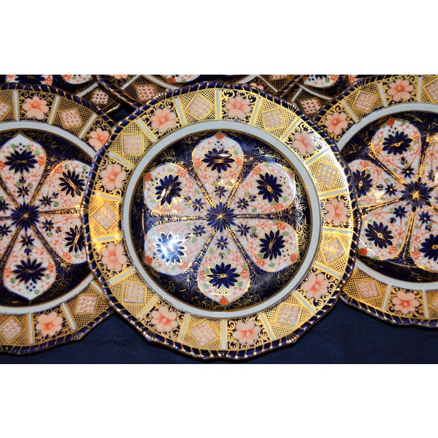 Royal Crown Derby Imari Rope Edge Plates - Set of 6 - Image 6 of 10