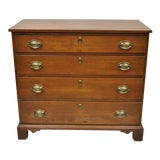 Image of 19th C. Antique Mahogany Federal Dresser Commode Bachelor Chest of Drawers For Sale