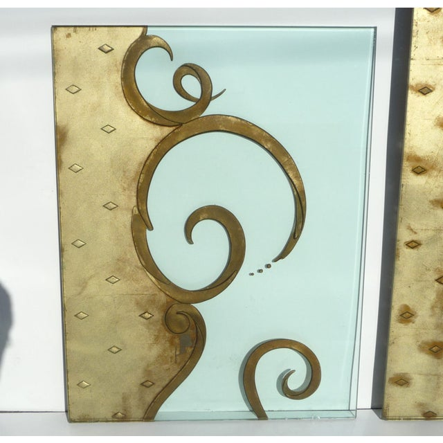 Architectural Etched & Gilded Glass Panels - Image 2 of 10