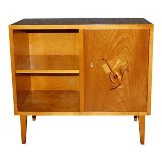 Swedish Art Moderne Intarsia Cabinet End Table For Sale
