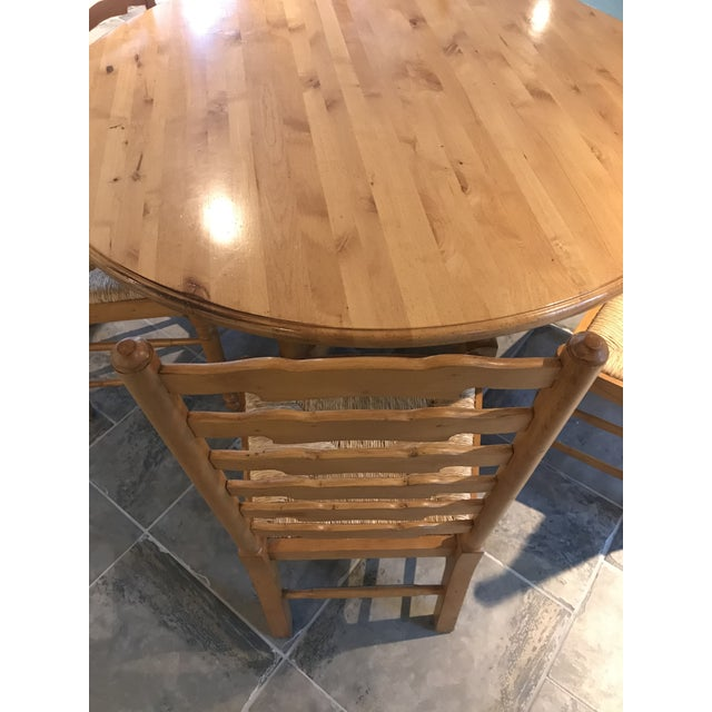 Andre Originals Solid Wood Kitchen Dining Set - 7 Pieces For Sale - Image 6 of 8