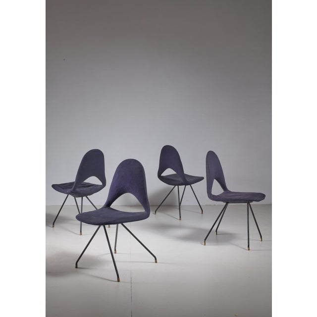 1950s Set Of Four Chairs By Gastone Rinaldi For Rima For Sale - Image 5 of 5