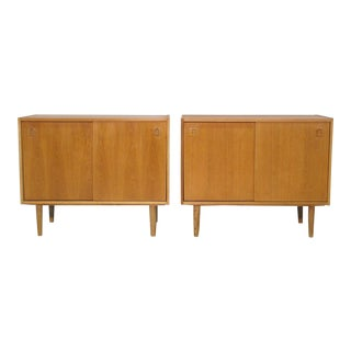 Danish Modernist Oak Cabinets - A Pair For Sale