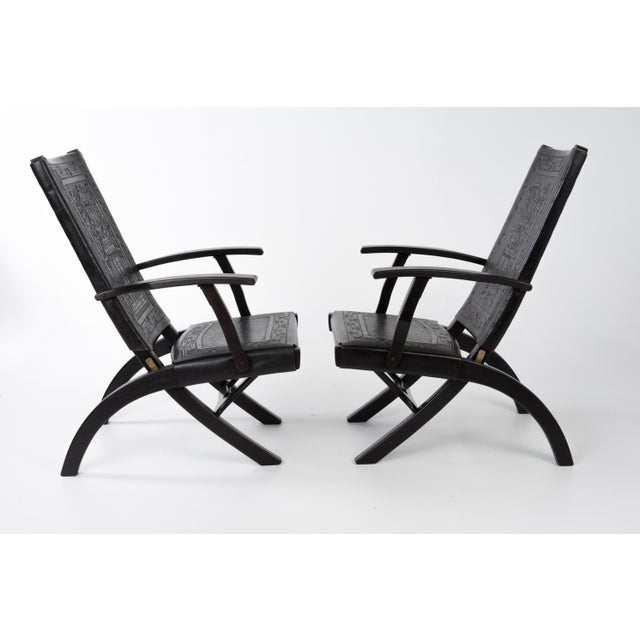 1970s Vintage Angel I. Pazmino for Muebles De Estilo Leather Armchairs- A Pair For Sale In Philadelphia - Image 6 of 13