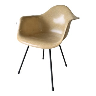 1950s Vintage Eames Zenith Dax Faded Yellow Chair For Sale