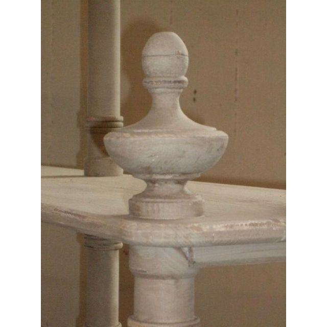 Wood Grey Painted French Shelving Unit For Sale - Image 7 of 8