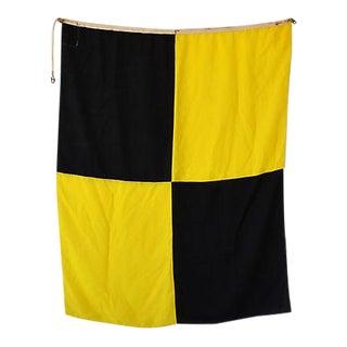 "Large Vintage Maritime Nautical Naval Signal ""L"" Flag"