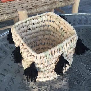 Moroccan Black Tassel Basket Preview