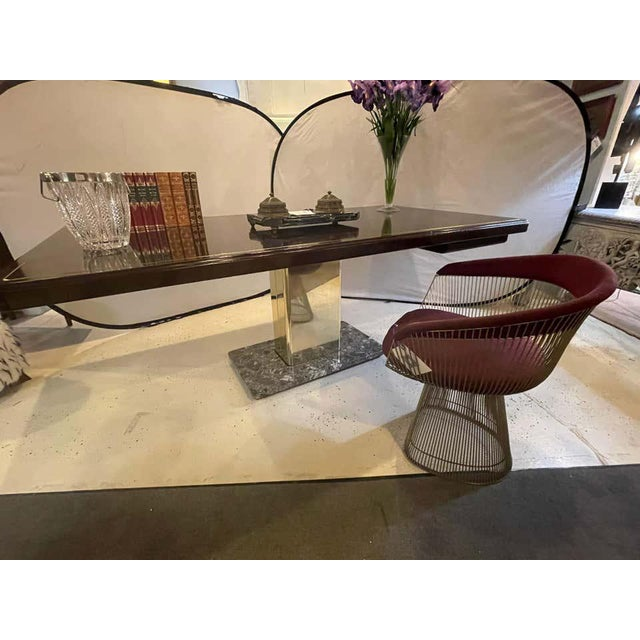 Mid-Century Modern Warren Platner Desk Mid-Century Modern on a Rosewood, Brass and Marble Base For Sale - Image 3 of 13