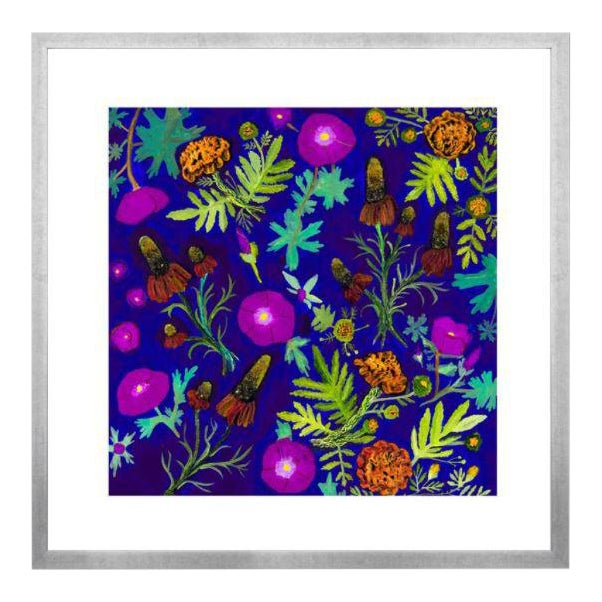 Wildflowers Mixed Floral Garden Artwork by Eli Hilpin For Sale