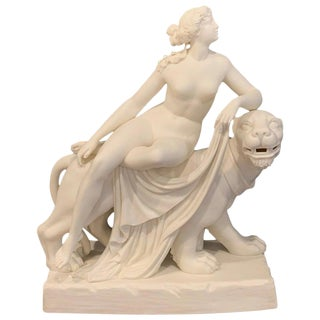 """Parian """"Ariadne and the Panther"""" After John Bell, Attributed to Mintons For Sale"""