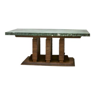 Italian Walnut Library Table For Sale
