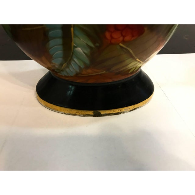 19th Century French Porcelain Hand-Painted Vases - a Pair For Sale - Image 9 of 10