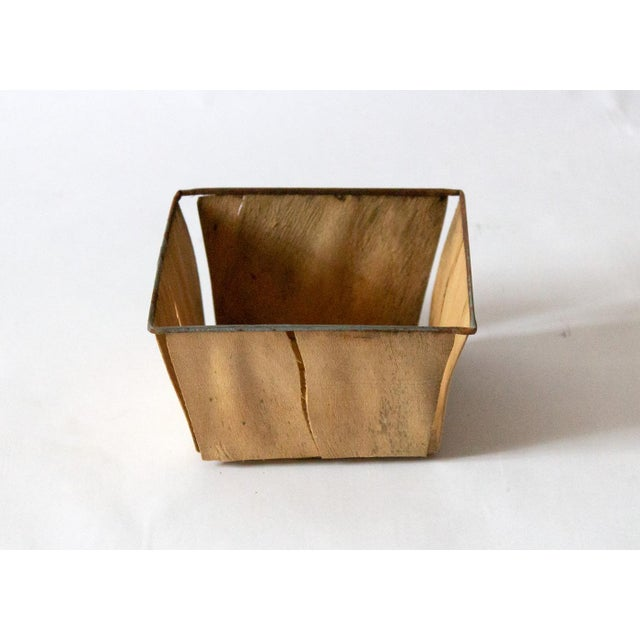 Metal 1950s Boho Chic Metal Berry Baskets - Set of 3 For Sale - Image 7 of 10