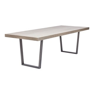 Jake Dining Table, Putty Grey, Pewter