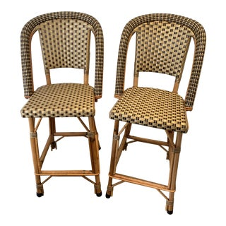 Pair of Maison Drucker Counter Stools For Sale